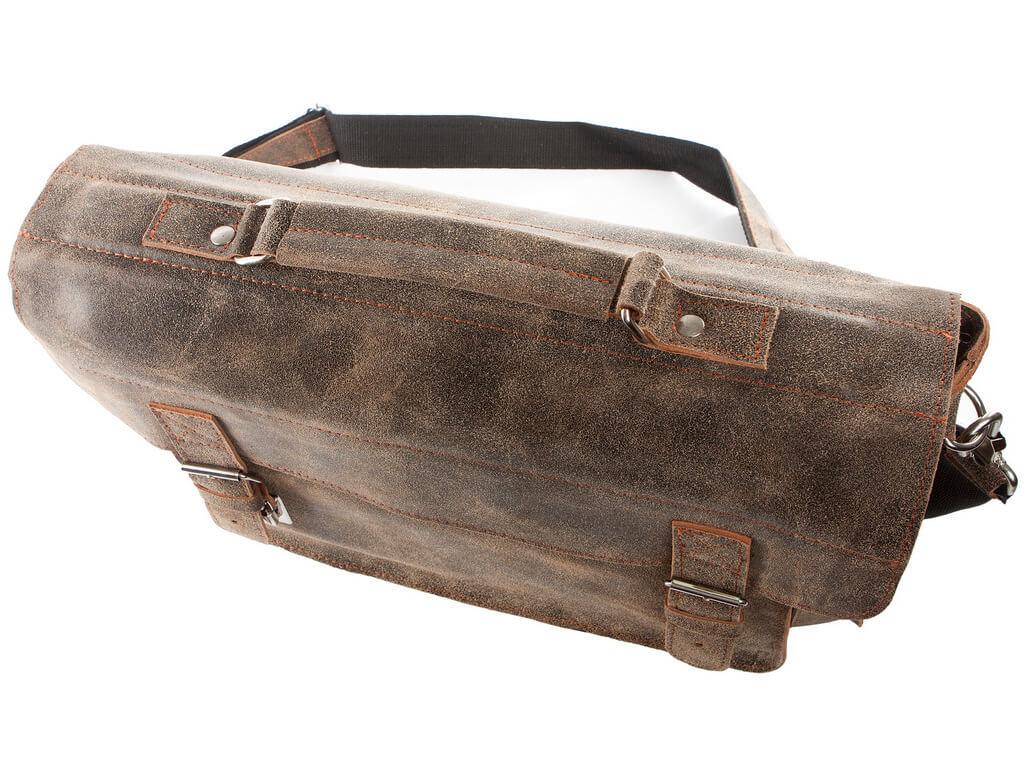 Męska torba ze skóry naturalnej brązowa BV50 w Torby męskie