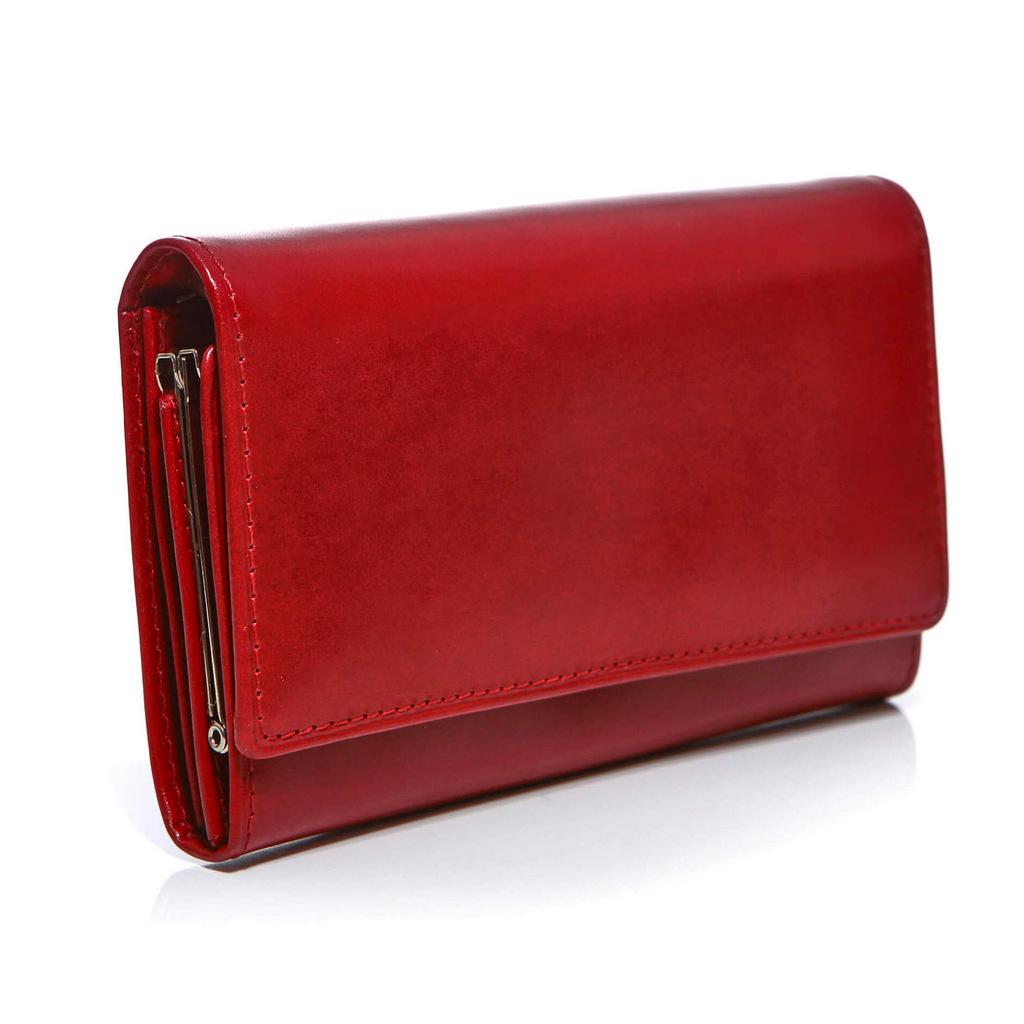 d7043dab88aef czerwony portfel damski. czerwony portfel skórzany. portfel skórzany  czerwony