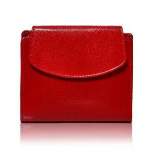 czerwony portfel mały