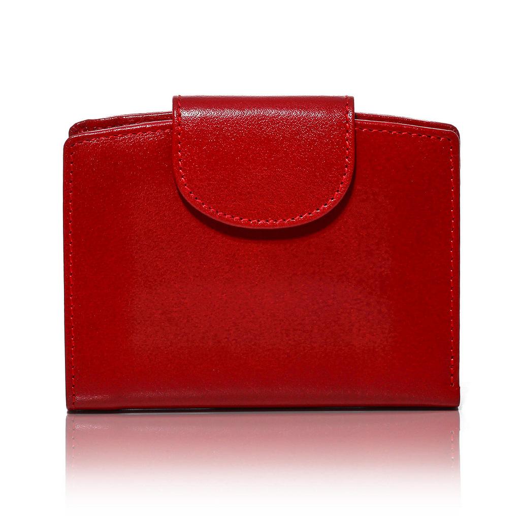 2e52ed42c6f9c Mały czerwony portfel portmonetka skórzany BW32 - Belveder.com.pl