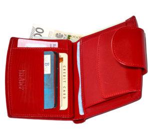 czerwony portfel