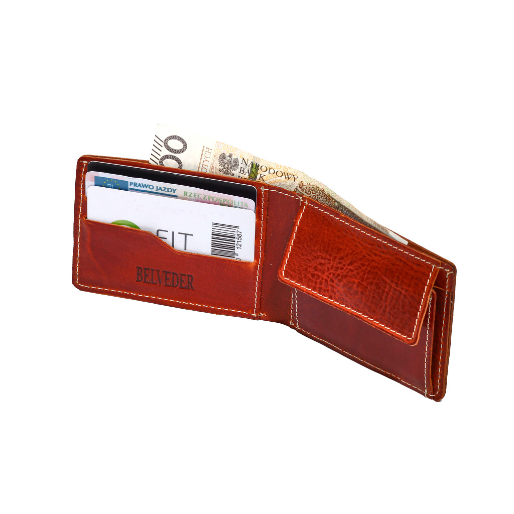 12c5917fe8784 Mały portfel męski skórzany slim BW28 - Belveder.com.pl
