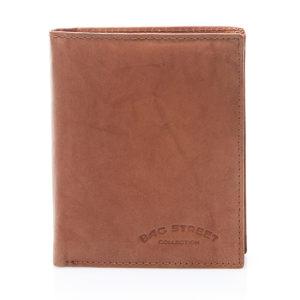męski portfel brązowy