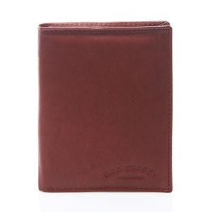 męski portfel burgundowy