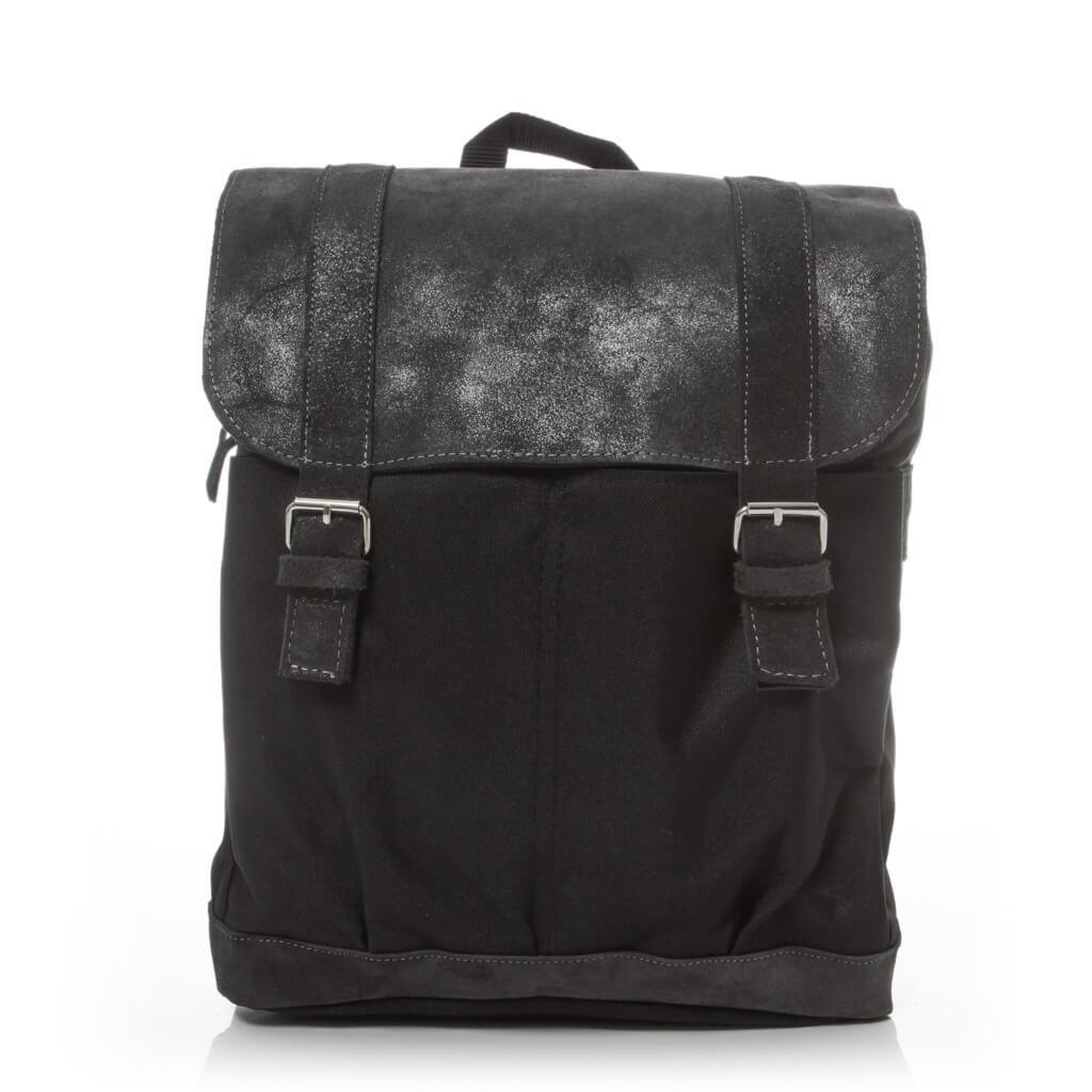 Plecak męski skórzany na laptopa czarny BV29