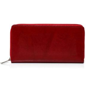 portfel na zamek czerwony