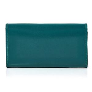 turkusowy portfel skórzany