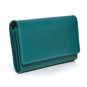 turkusowy damski portfel