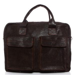torba na laptopa brązowa