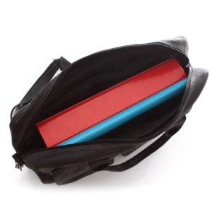 torba na laptopa skórzana czarna
