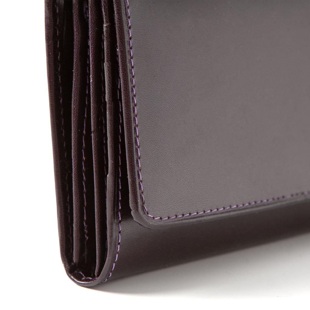 2b5d053aa90f0f Fioletowy portfel damski skórzany duży BW59 - Belveder.com.pl