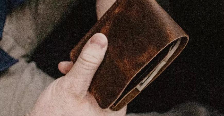 portfel vintage dla hipstera