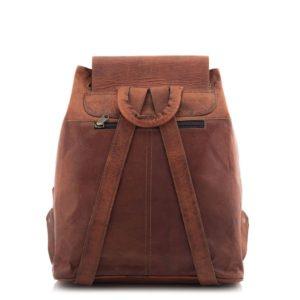 Brązowy plecak skórzany