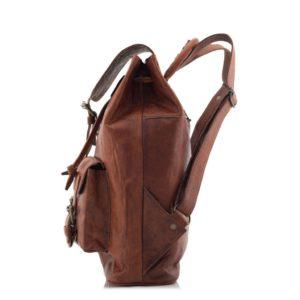 Brązowy plecak vintage