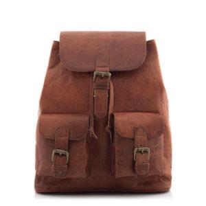 Brązowy plecak skórzany vintage Outlander BT10