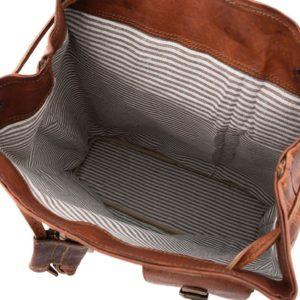pojemny plecak skórzany