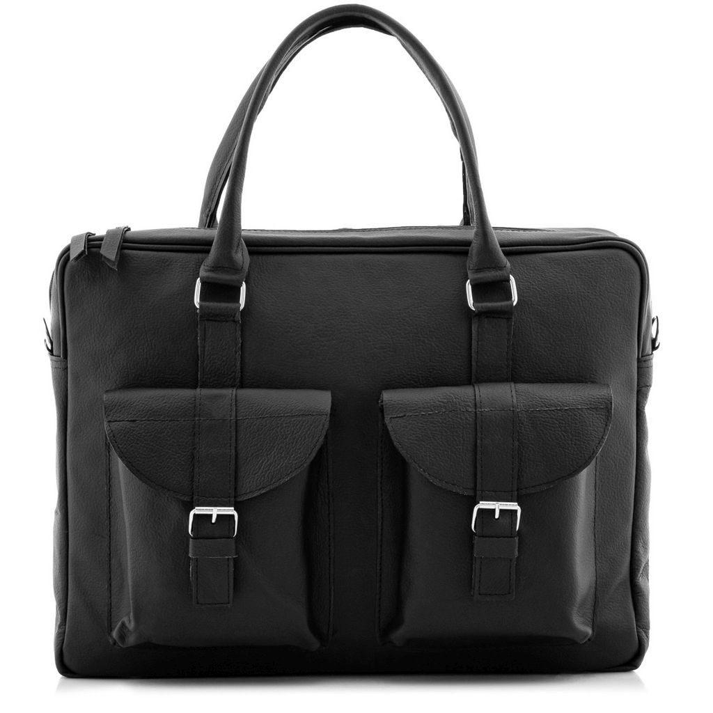 Czarna torba nalaptopa