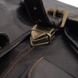 plecak skorzany vintage czarny