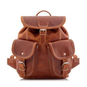 Plecaczek damski skórzany brązowy BR21