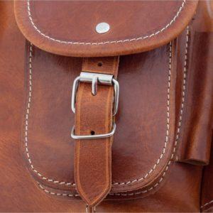 szyty ręcznie plecaczek