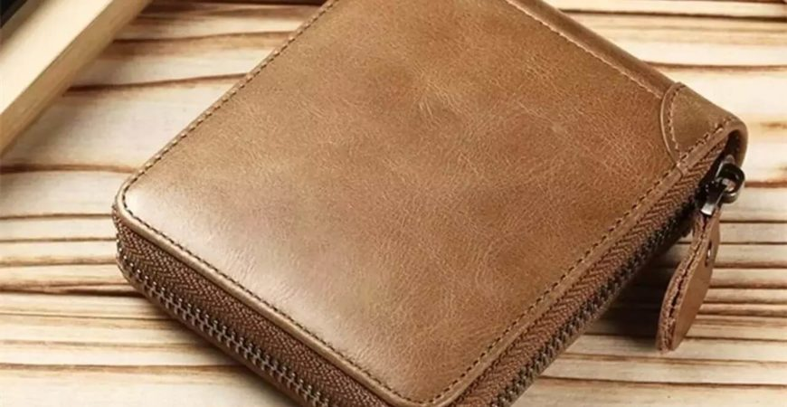 portfel męski na zamek