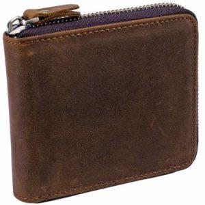 portfel nazamek brązowy