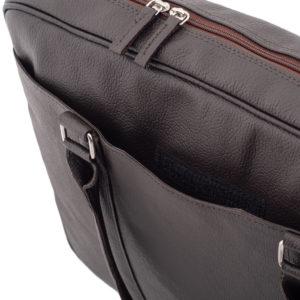 torba na laptopa brąz
