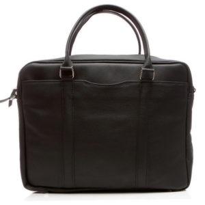 torba na laptopa 15,6 skórzana czarna bvl91