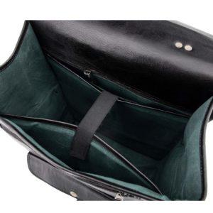 skórzany plecak na laptopa