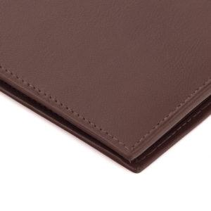 Cienki portfel jasnobrązowy