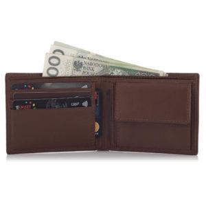portfel skórzany z bilonówką