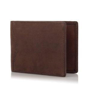 Mały portfel męski na karty kredytowe skórzany brązowy ZC03