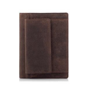 Portfel męski Slim Wallet na dokumenty i kary z bilonówką C02B