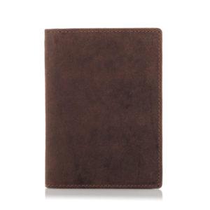 Portfel Slim Wallet na dokumenty i karty męski jasnobrązowy C02