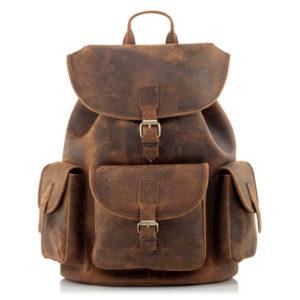 Skórzany męski plecak vintage brązowy Outlander