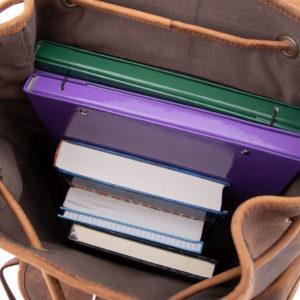 Skórzany plecak do szkoły
