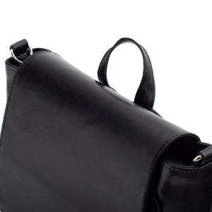 Torebka i plecak czarna