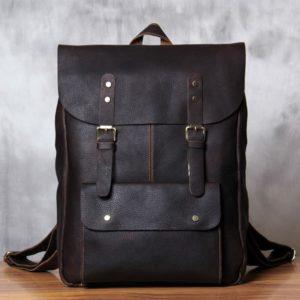 Skórzany Plecak Na Laptopa Męski Brązowy Out fit Outlander BM92