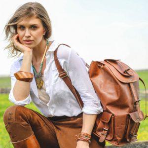 plecak damski skórzany