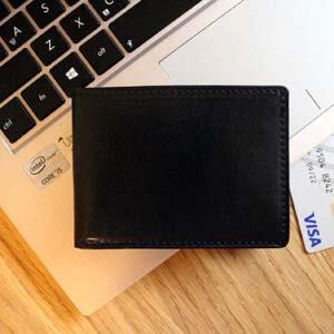 cienki męski portfel