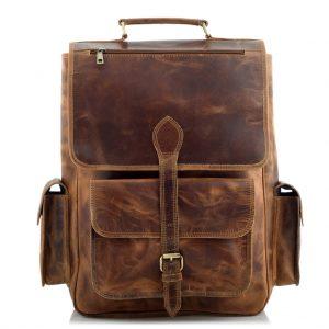 Skórzany plecak męski brąz vintage Outlander BTL09