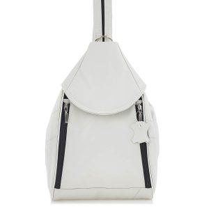 Biały Plecak Damski Skórzany Elegancki Rene04