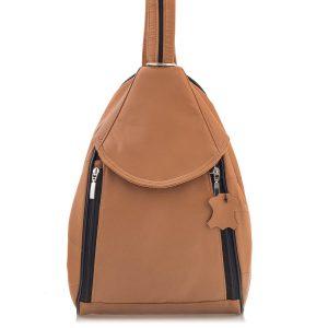 Brązowy Plecak Damski Skórzany Elegancki Rene03