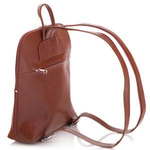 Camelowy Plecak Skórzany