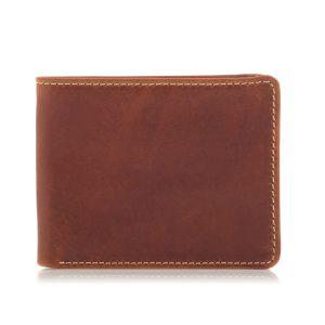 Portfel Slim Wallet naKarty Skóra Jucht Brązowy BW38