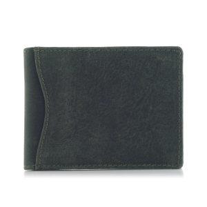 Mały portfel męski skórzany na karty kredytowe zielony ZC03