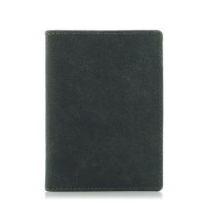 Portfel Slim Wallet na dokumenty i karty męski zielony ZC02