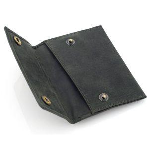 Portfel Slim Wallet na karty i monety męski zielony ZC04