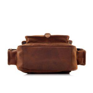 Skórzany Plecak Męski na Laptopa Brązowy Outlander BTM9