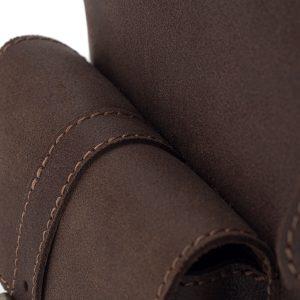 Skórzany Plecak Męski Vintage Ciemnobrązowy Outlander Z71